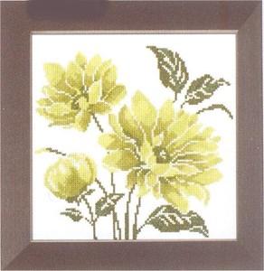 Изображение Лимонно-зеленый цветок 1 (Lime green flower I)