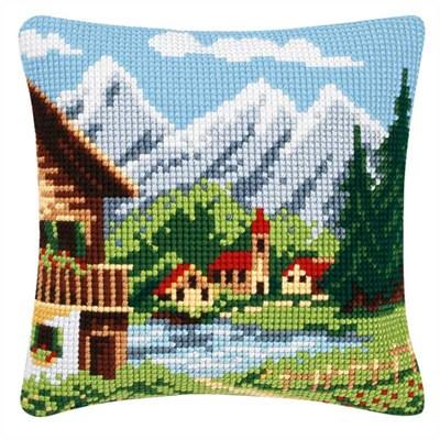 Изображение Альпийская деревня (подушка) (Alpine village)