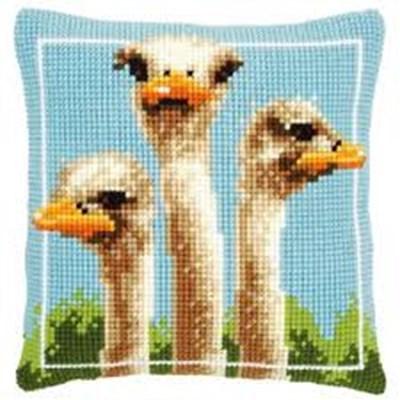 Изображение Cтраусы (подушка) (Ostriches)