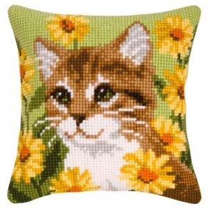 Изображение Котик в ромашках (коврик)