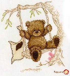 Изображение Медведь на качелях (Popcorn the bear)