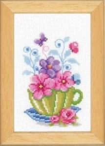 Изображение Чашка с цветами (Cup with Flowers)