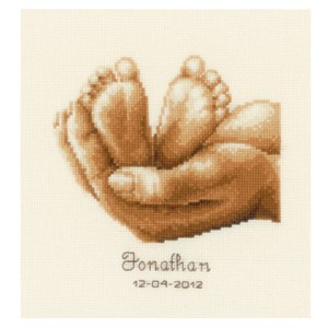 Изображение Крошечные ножки Метрика (Tiny Feet Birth Sampler)