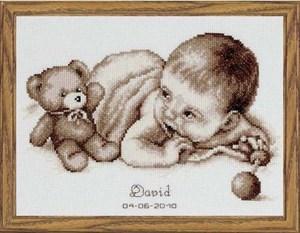 Изображение Малыш с мишкой (Baby and Teddy Moment)