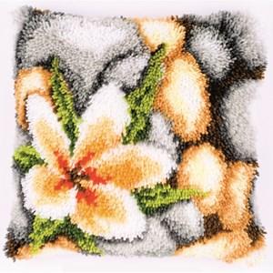 Изображение Цветок на камнях (коврик)