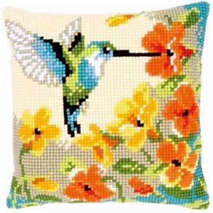 Изображение Колибри с цветами (подушка) (Hummingbird with Flowers)