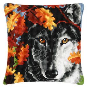 Изображение Волк осенью (подушка)