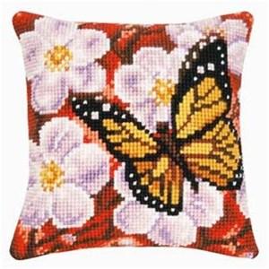 Изображение Бабочка и цветы (подушка) (Butterfly and Flowers)