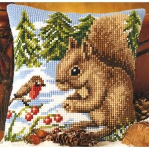 Изображение Белка и птичка (подушка) (Squirrel and Robin)