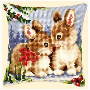 Изображение Зимние зайчата (подушка) (Rabbits Winter)