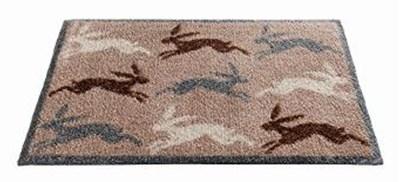 Изображение Hares коврик придверный. синтетика на основе ПВХ