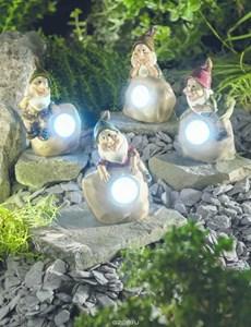 Изображение Cветильник на солн.батареях Гном 13см