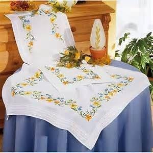 Изображение Весенние цветы Скатерть (Spring Flowers Tablecloth)