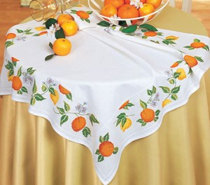 Изображение Апельсины и лимоны (скатерть) (Citrus Tablecloth)