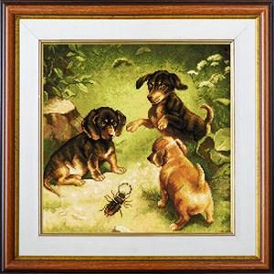 Изображение Щенки и жук