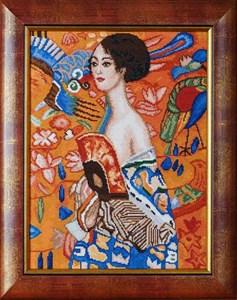 Изображение Дама с веером Густав Климт