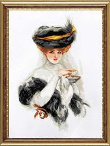 Изображение Дама с чашкой чая