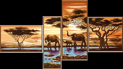 Изображение Африканские слоны