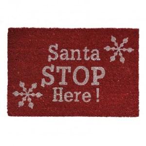 Изображение Коврик Santa Stop Here! H40cm x W60cm