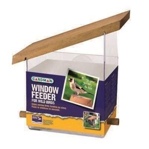 Изображение Кормушка пластиковая, 14см, на присосках для крепления к окну
