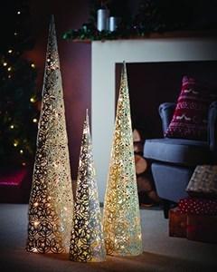 Изображение Декор новогодний с  LED подсветкой 80см. Металл с блестящим покрытием