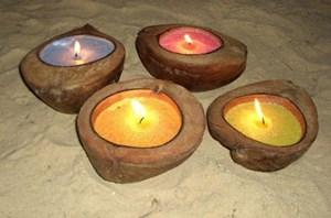 Изображение Свеча антимоскитная в натуральном кокосе
