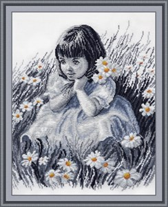 Изображение Девочка в ромашках