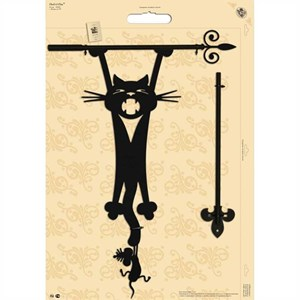 Изображение Указатель ветра Кот с мышкой