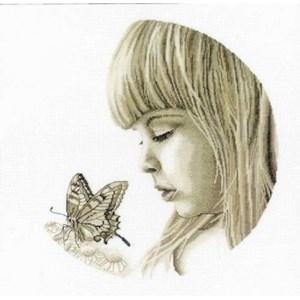 Изображение Девочка с бабочкой