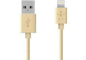 Изображение USB ChargeSync кабель Belkin золотой
