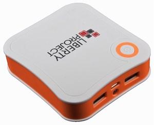Изображение Внешний АКБ LP с фонариком белый с оранжевым