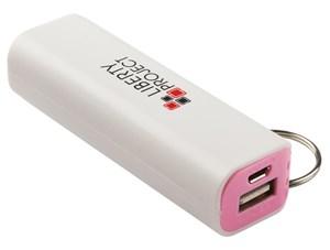 Изображение Внешний АКБ LP с фонариком белый с розовым