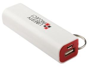 Изображение Внешний АКБ LP с фонариком белый с красным