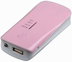 Изображение Внешний АКБ LP с фонариком розовый