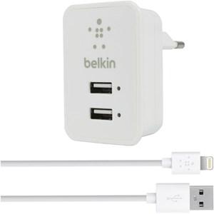 Изображение СЗУ Belkin с кабелем 8 pin белый