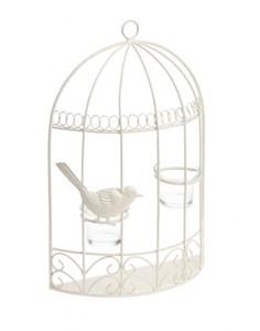 Изображение Настенный подсвечник Birdcage кремовый