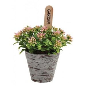 Изображение Цветущее растение в горшке искусственное
