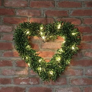 Изображение Искусственное топиари Heart Topiary 51см на цепочке, 35 LED лампочек, на батарейках