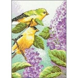 Изображение Щегол и сирень (Goldfinch and Lilacs)
