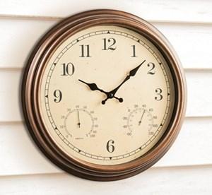 Изображение Часы с термометром и барометром  Копенгаген d44см