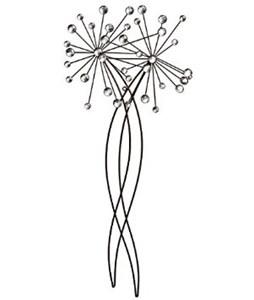 Изображение Декор настенный Beaded Allium Stem