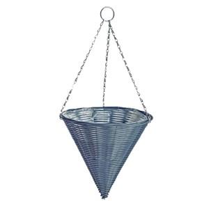 Изображение Кашпо конус подвесное пластик серый