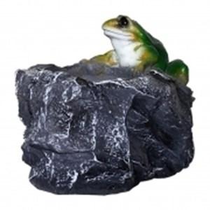 Изображение Кашпо Камень с лягушкой