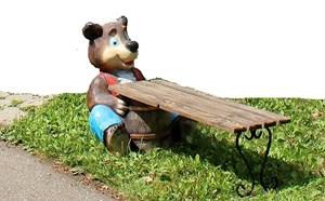 Изображение Лавка Медведь с боченком