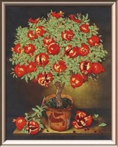 Вышивка гранатовое дерево 73