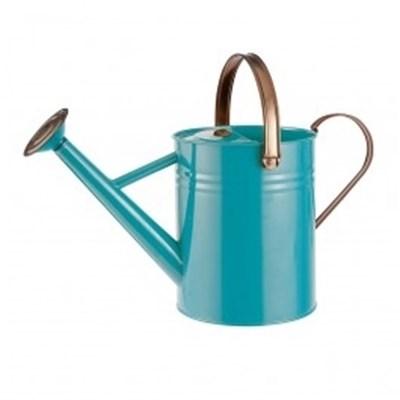 Изображение Лейка металлическая 4, 5л ярко голубой