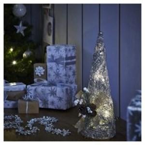 Изображение Декор  рождественский  в стиле кантри средний серебро