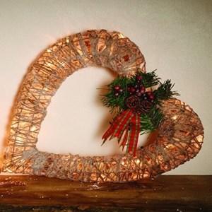 Изображение Рождественский декор сердце золото
