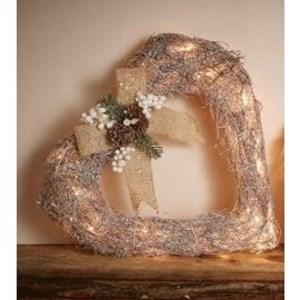 Изображение Рождественский декор сердце серебро
