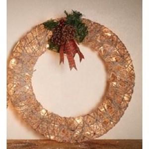 Изображение Рождественский декор венок золото